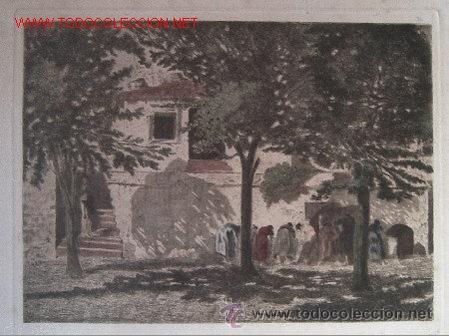 Arte: aguafuerte original de amat - Foto 2 - 27807276